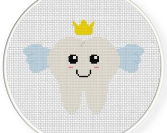 Tooth Fairy PDF Cross Stitch Pattern Needlecraft - Instant Download - Modern Chart