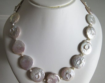 20mm Coin Pearl Necklace