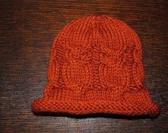 Owl Baby Hat - Pumpkin