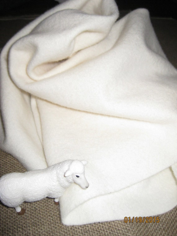 Dorr Solid White 100 Percent Wool Fabric Order Your Choice Of