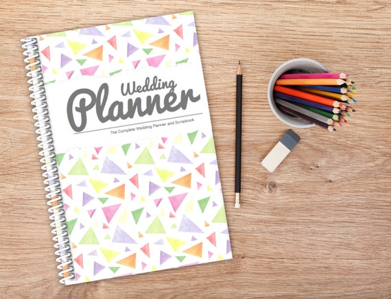 Wedding Planner Ideas Book: Wedding Organiser Book Triangle Cover Design By