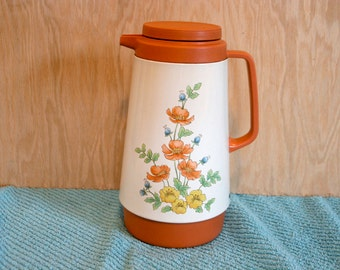 Vintage Wildflower Corning Floral Thermos