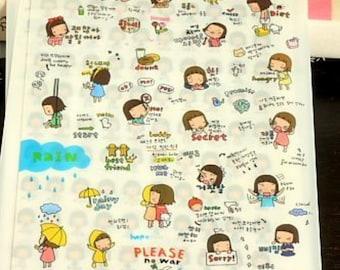 Kawaii Stickers   Erin Condren Planner Stickers   Life Planner Stickers   Planner Stickers   Kawaii   Today   Planner Supplies   K2.15