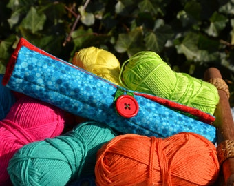 Roll bag for  crochet hooks, needles included