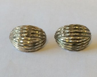 Bold Textured Vintage Sterling Silver Earrings