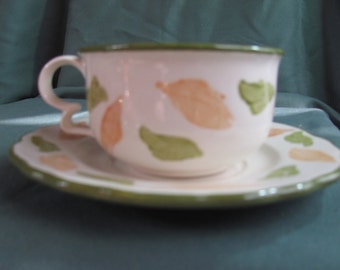 Fall Leaf Teacup with Saucer