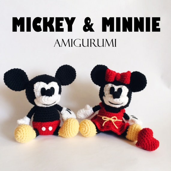 Mickey & Minnie Mouse Amigurumi Crochet Pattern PDF