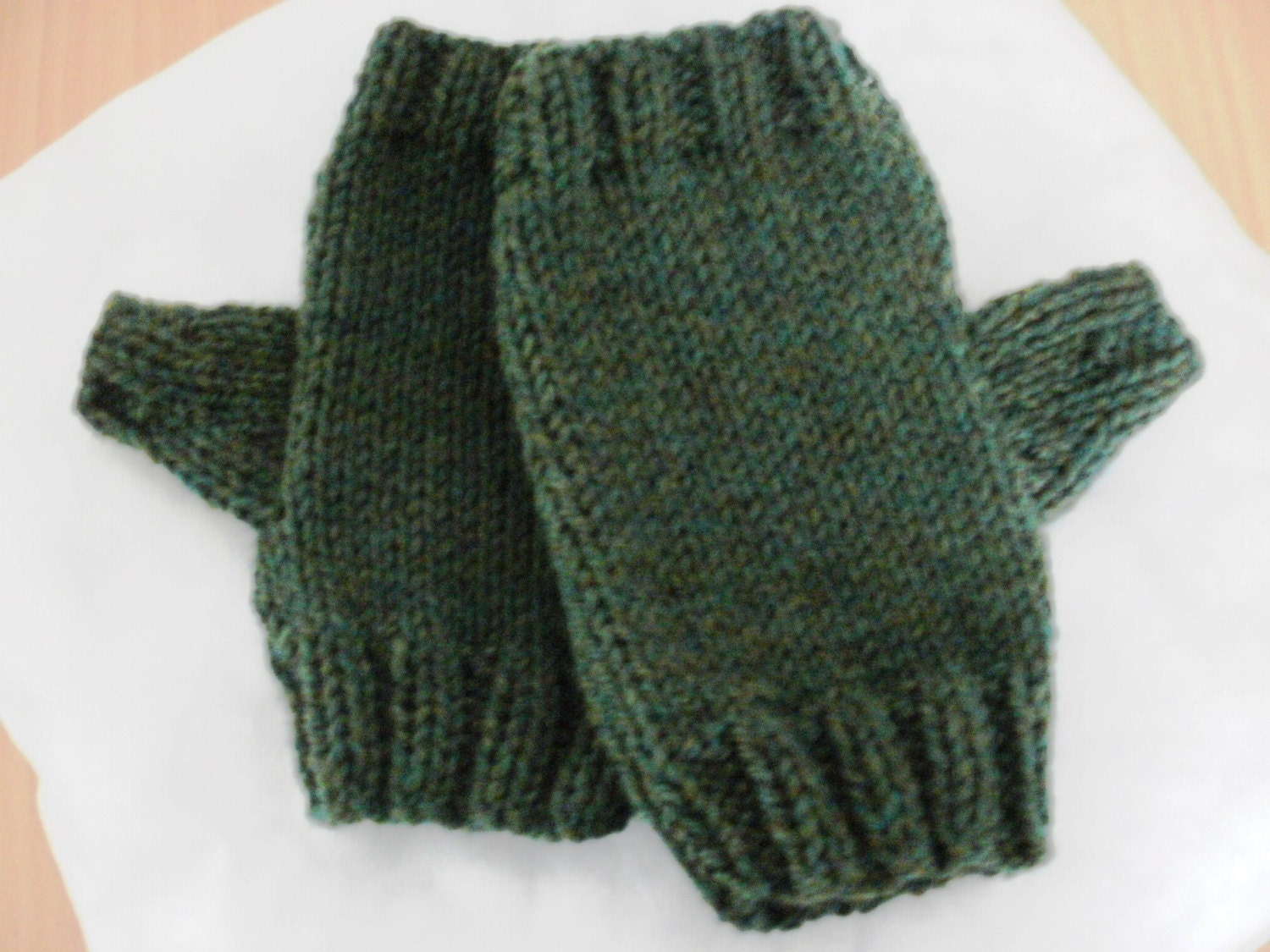 Fingerless gloves for men mens knitted by HandmadebyPaulaMary
