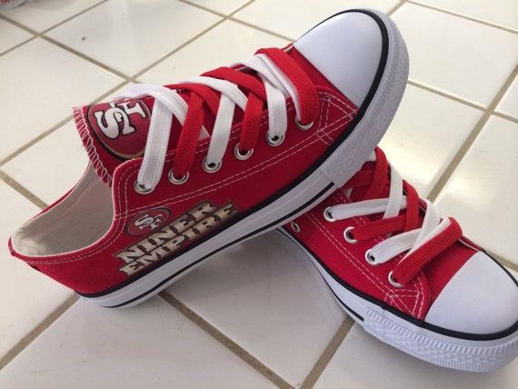 49ers empire unisex tennis shoes read by sportzfanatics on