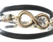 FREE SHIPPING - Bracelet three cords . infinity