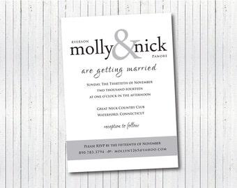 Modern Simplistic Wedding Invitation