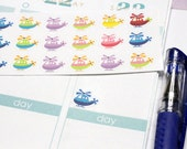30 Helicopter Stickers! Perfect for your Erin Condren Life Planner, Filofax, Kikkik, Plum Paper, planner/agenda, or scrapbooking! #SQ00560