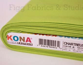 KONA Cotton in Chartreuse (Color 1072)