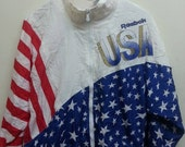 sale Vintage 1990s Reebok Usa Team Olympic 92 Design By Jc Penny Sweater Warmup Jacket