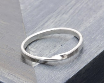 925 stering silver simple twisted band ring