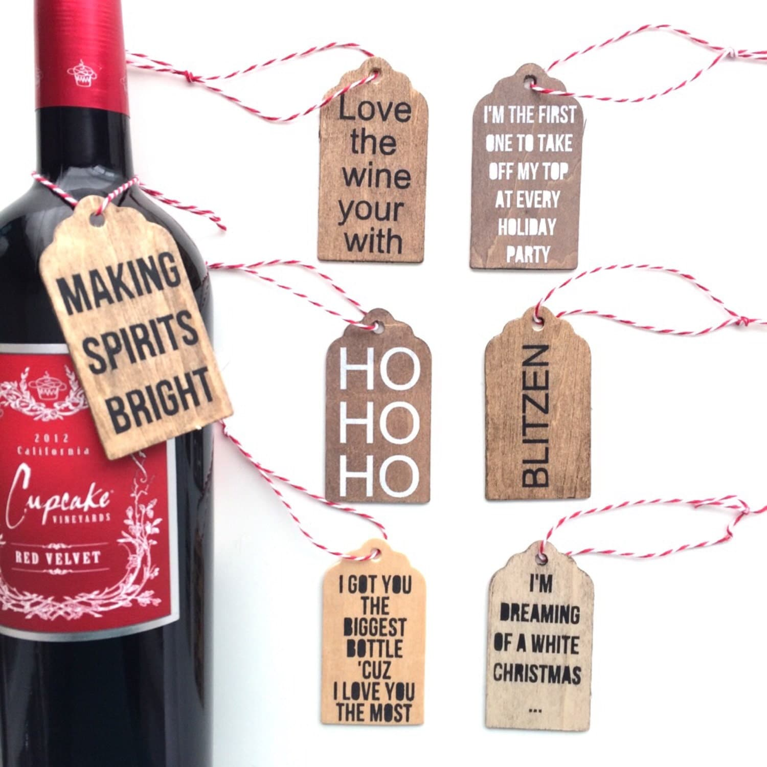 Christmas Wine Tags Wine Tags Gift Tags Wine By Freestylemom