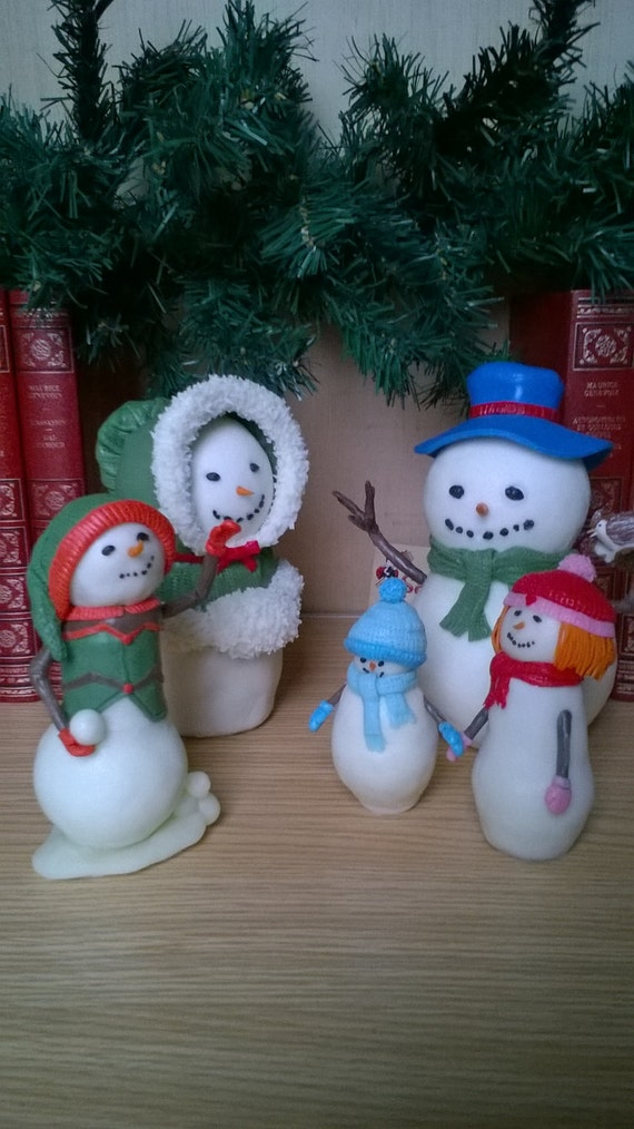 The SNOWMAN family! Adopt, all together or individually! Porcelain cold saeljana. Christmas, winter.