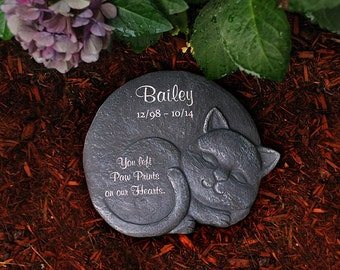 Memorial Stone for your Beloved Cat (Right Facing)