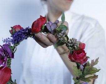 Frida Handmade Silk Flower Crown Halo