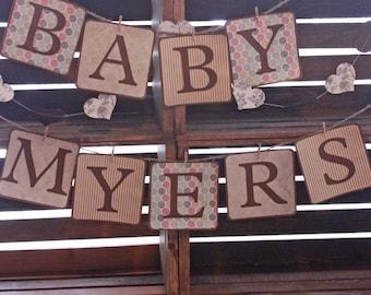 Baby Shower Banner, Baby Shower Sign, Custom Baby Banner