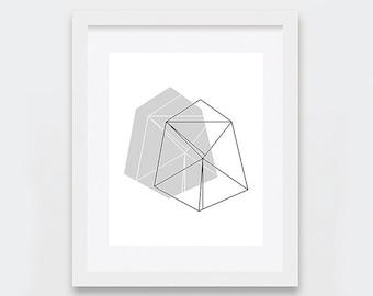 Geometric Wall Art, Abstract Art Print, Neutral Art, Modern Decor, Abstract Digital Print, Minimal Printable Art