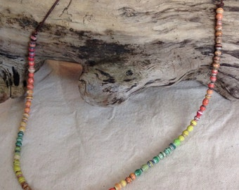 Sunshine Paper Bead Necklace