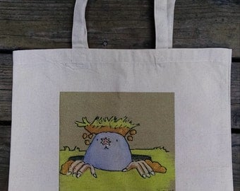 Mole Tote Bag, Canvas Tote, Tote, Bag, Mole