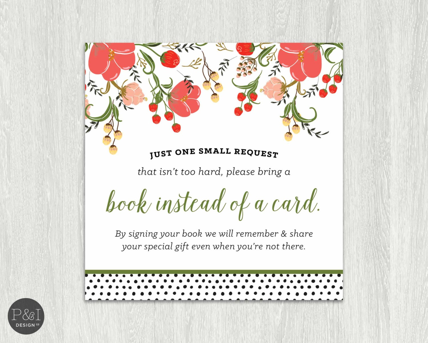 bring a book instead of card baby shower by paperandinkdesignco