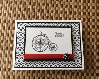 Handmade Greeting Cards:  Thank you card.