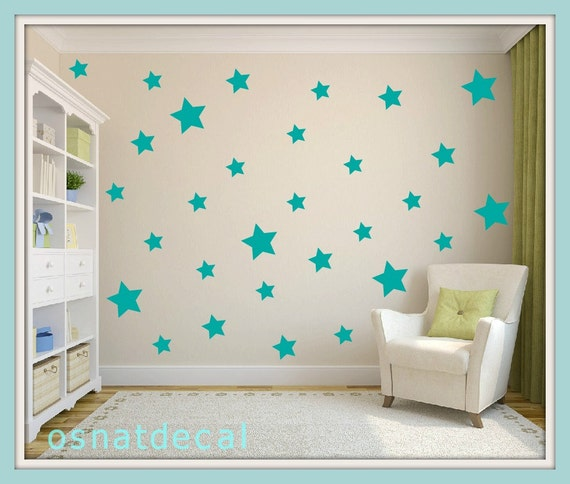 FREE SHIPPING Wall Decal Turquoise Stars, Each Kit 150  Stars. Wall Sticker. Homedecor.Nursery Wall Art.Housewares