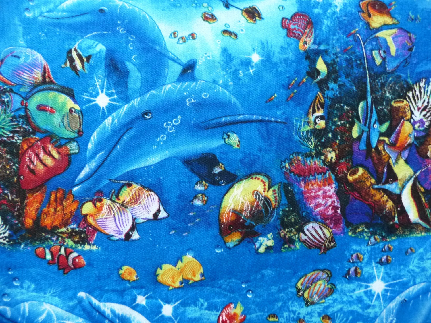 Tropical fish fabric children of the sea elizabeths studio for Children of the sea fabric