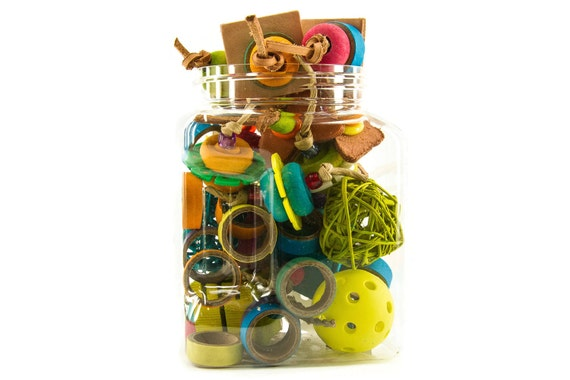 Parakeet Toys And Accessories : Jar of parrot foot toys accessories for parrots