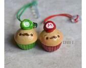 Mario or Luigi Cupcakes Dust Plug