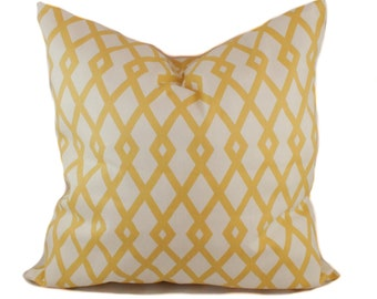 Yellow pillow cover, Accent pillow, Decorative pillow, Sofa pillow, Throw pillow, Sham, 12x20, 16x16, 18x18, 20x20, 22x22, 24x24, 26x26