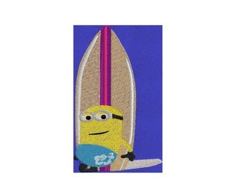 3 Surfer Dude Minions approx 5x3