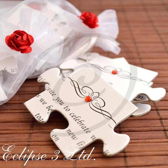 Großartig Einladungskarten Hochzeit Puzzle U2013 Sleepwells, Einladungen
