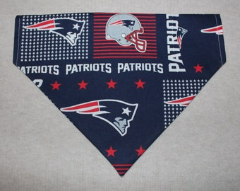 New England Patriots Dog Bandanna in Small, Medium, or Large