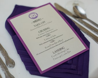 Customizable Theme Wedding, Shower, or Event Menu