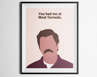 Parks and Recreation Ron Swanson Quote Poster Parks and Recreation Quote Print