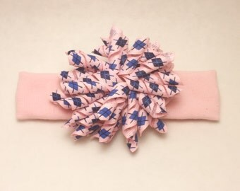 Korker Headband ~ Hand made on elastic headband that fits infants/toddlers