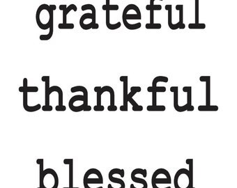 """Primitive Thanksgiving Fall STENCIL**grateful thankful blessed** 12""""x12"""" for Painting Signs, Airbrush, Crafts, Wall Art and Decor"""