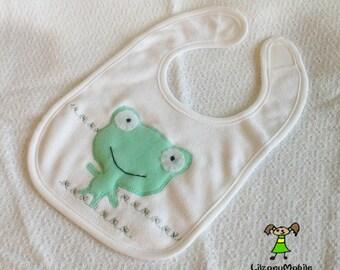 Frog Baby bib,Infant Bib, Feeding Bib, Baby Shower Gift