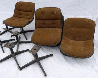 SALE! Org 295.00  Mid Century Modern Set 6 Knoll Chairs