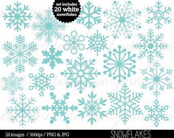 Items similar to Clipart Snowflake - clip art snowflake, snowflake ...