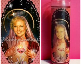 Golden Girl Rose prayer candle