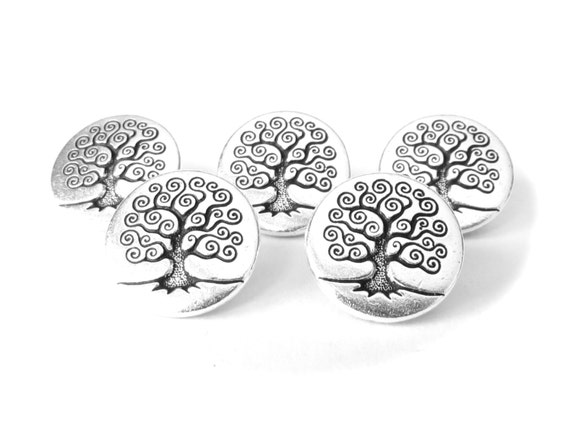 5x tree of life buttons with shank tierracast jewelry for Vita craft factory outlet