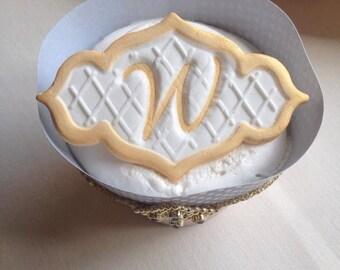 Custom Monogram Cupcake Toppers