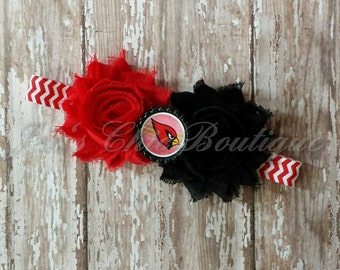 Arizona Cardinals chevron elastic infant, toddler, or adult size headband