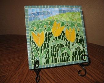 Picture mosaic, tulip