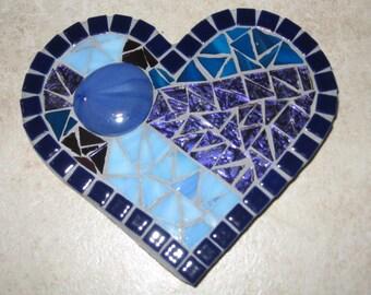 Valentine mosaic plaque , heart